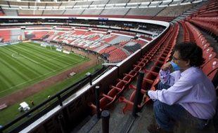 Le stade Aztèque, le 26 avril 2009, vide lors d'un match entre l'America et Tecos, au Mexique, en raison de la fièvre porcine.