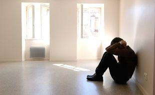 Illustration d'un homme souffrant de troubles mentaux.