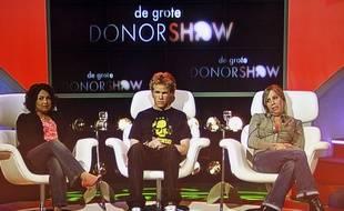 Une image de l'émission «De Grot Donor Show», diffusée en 2007 aux Pays Bas et qui était un canular pour sensibiliser le public au sujet du don d'organes.
