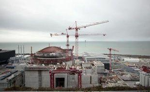 Vue en date du 19 février 2014 du chantier du réacteur EPR à Flamanville