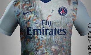 Le maillot du PSG imaginé par le blog lacasaca.