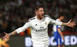 Sergio Ramos lors du match entre le Real Madrid et Cruz Azul le 16 décembre 2014.
