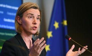 La chef de la diplomatie européenne, Federica Mogherini à Luxembourg, le 18 avril 2016