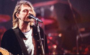 Le chanteur de Nirvana, Kurt Cobain, en 1993