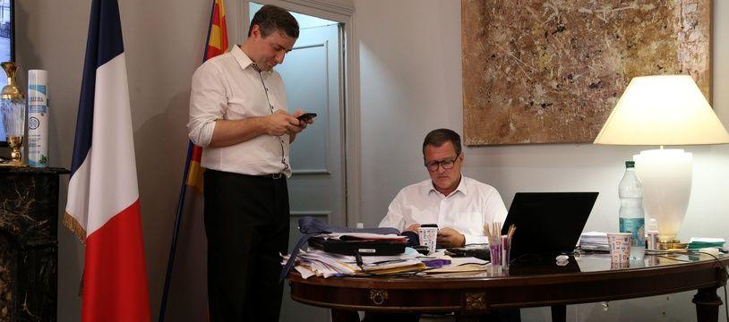 Louis Aliot, nouveau maire de Perpignan