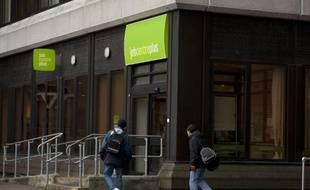 Une agence pour l'emploi à Bromley, en Angleterre