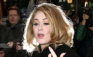 Adele à Londres, le 23 octobre 2015.