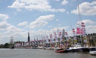 Le 27 mai 2015, bateaux amarrés à Bordeaux pour la Fête du Fleuve