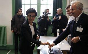 La candidate LR, Rachida Dati, lors du premier tour des municipales à Paris