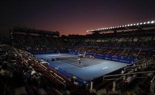 Photo prise lors de la demi-finale entre John Isner et Taylor Fritz à Acapulco, au Mexique, le 29 février 2020.