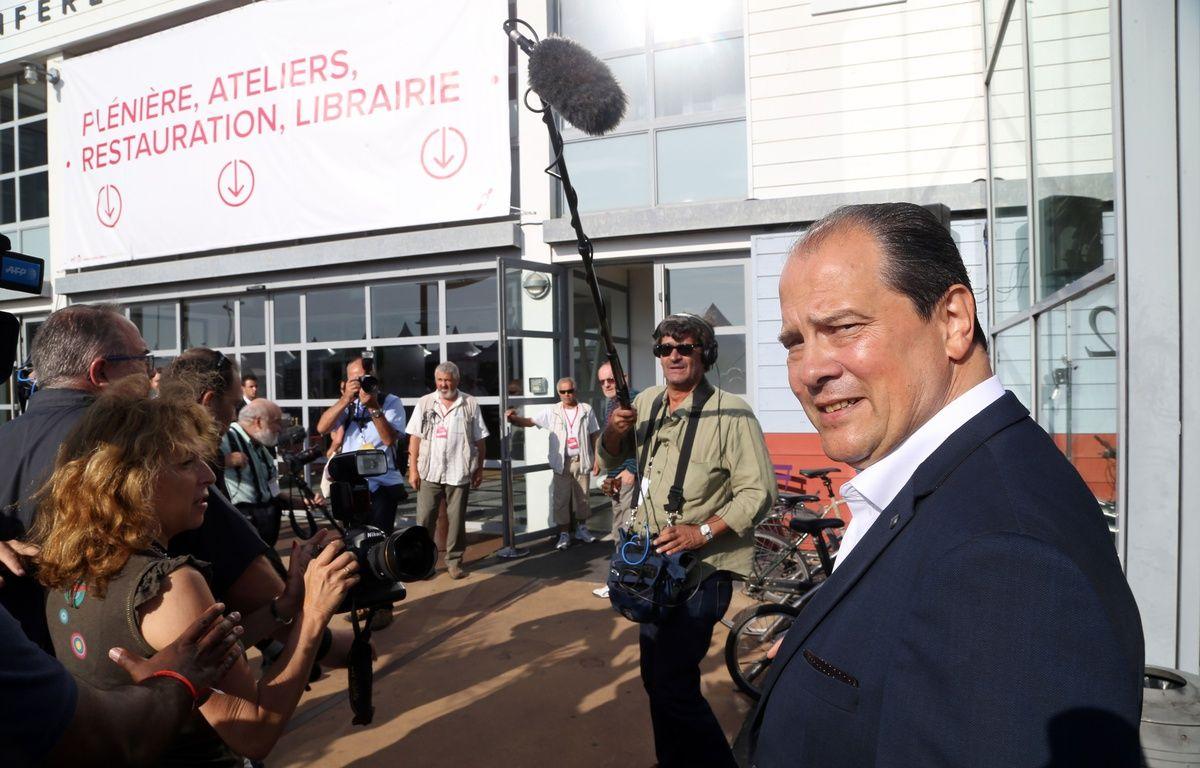 Le Premier secrétaire du Parti socialiste Jean-Christophe Cambadélis aux universités d'été du PS le 30 août 2015 à La Rochelle. – ROBERT ALAIN/CHAMUSSY/SIPA