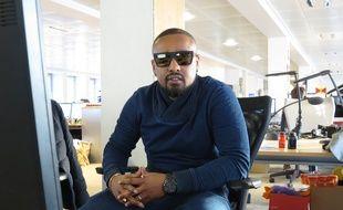 Le rappeur Alonzo en chat dans les locaux de 20 Minutes, le 14 janvier 2015.