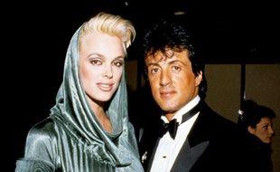 Les ex-époux Brigitte Nielsen et Sylvester Stallone, en 1986
