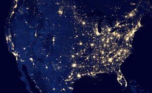 Les Etats-Unis vus par les satellites de la Nasa, le 6 décembre 2012.