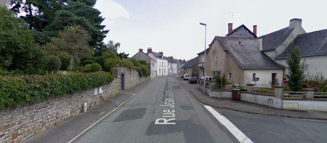 L'accident s'est produit au niveau de cette intersection dans la rue de Jean-Jaurès