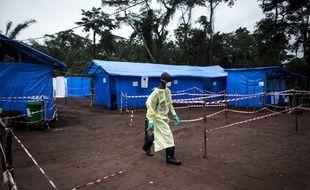 Une zone de quarantaine pour faire face à l'épidémie, en République démocratique du Congo, en 2017.