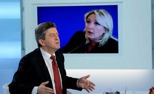 Jean-Luc Mélenchon, candidat du front de gauche a l'élection présidentielle de 2012, invité de