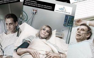 Images tirées d'une campagne en faveur de l'euthanasie de l'Association pour le droit de mourir dans la dignité  (ADMD).