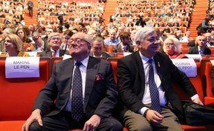 Jean-Marie Le Pen et Bruno Gollnisch.