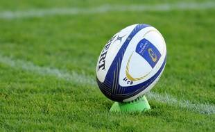 Un ballon de rugby en octobre 2014.