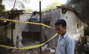 Une maison du kibboutz Reim en Israël où habitait une personne âgée a été détruite par une roquette tirée depuis la bande de Gaza, le 17 novembre 2012.