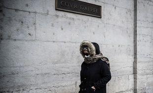 Cécile Bourgeon à son arrivée à la cour d'assises du Rhône le 4 décembre.