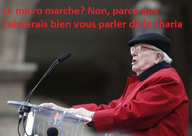 Jean-Marie Le Pen, le 1er mai 2017 à Paris.