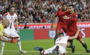 Ronaldo et le Portugal ont buté sur la Serbie en qualification à l'Euro 2020, le 25 mars 2019.
