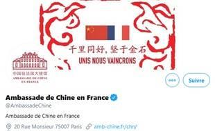 Le compte Twitter de l'Ambassade de Chine en France