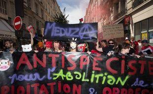 Illustration d'une manifestation antispéciste.