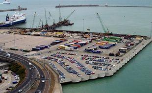Le port de Douvres, en Grande-Bretagne.
