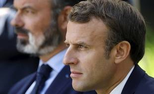 Edouard Philippe et Emmanuel Macron, lors de la convention citoyenne pour le climat.