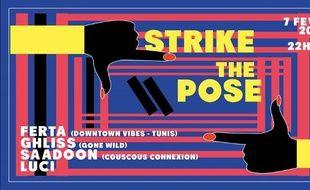 Visuel officiel de la soirée Strike the Pose