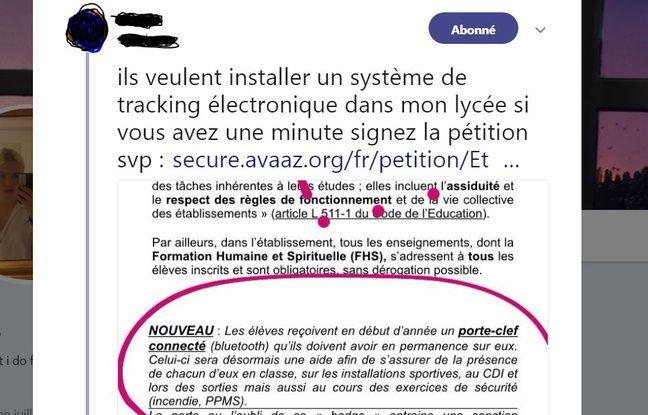 Tweet d'une lycéenne scolarisé à Rocroy Saint-Vincent de Paul à Paris