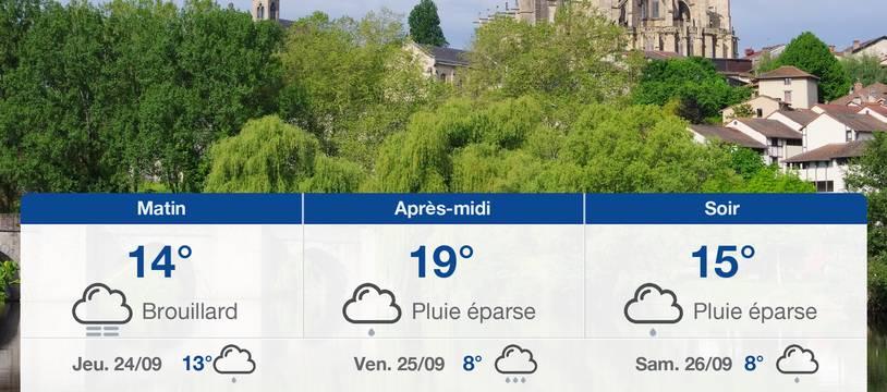 Météo Limoges: Prévisions du mercredi 23 septembre 2020