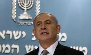 Le Premier ministre israélien Benjamin Netanyahu lors d'une conférence de presse, le 2 décembre 2014 à Jérusalem