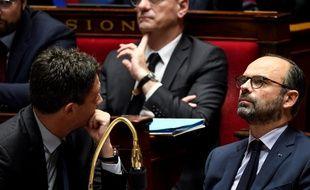 Edouard Philippe et Jean-Michel Blanquer à l'Assemblée, en décembre 2018.