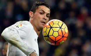 Cristiano Ronaldo, l'attaquant du Real Madrid, le 9 janvier 2016, contre La Corogne.