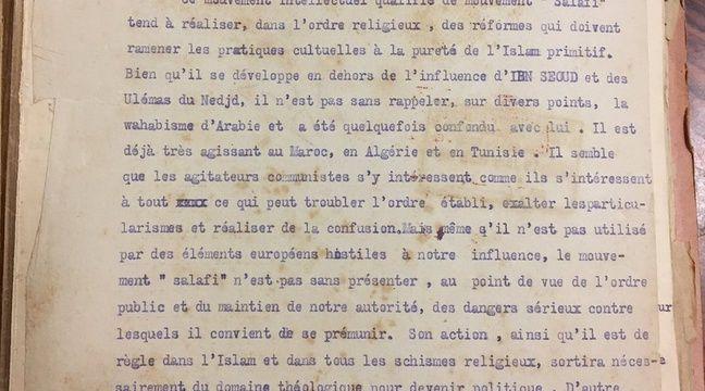 La lettre d'un ministre français mettait-elle «sérieusement en garde» contre l'islam en 1928?