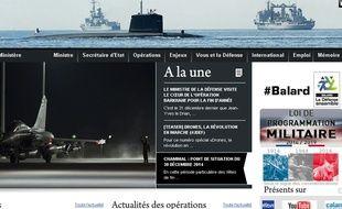 Capture d'écran du site internet du Ministère de la Défense.