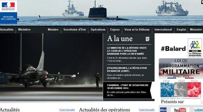 Capture d'écran du site internet du Ministère de la Défense. – 20 MINUTES