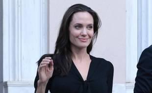 Angelina Jolie lors d'un déplacement à Athènes
