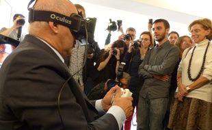 Michel Sapin a visité les start-up de l'incubateur Creative Valley