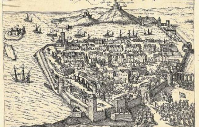 Gravure sur cuivre de la ville, par Georg Braun et Franz Hogemberg (1574)