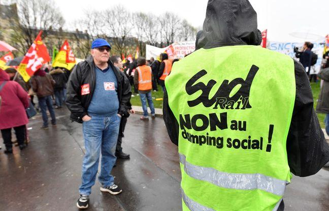 Manifestation de cheminots contre la réforme de la SNCF le 9 avril dernier.
