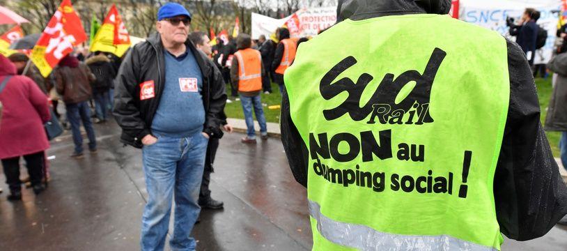 Manifestation de cheminots contre la réforme de la SNCF à Paris le 9 avril dernier.