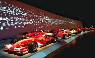 Rangée de Ferrari de formule 1
