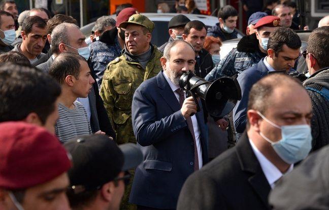 648x415 premier ministre armenien nikol pachinian denonce jeudi tentative coup etat militaire pris tete manifestation partisans afin reaffirmer autorite affai