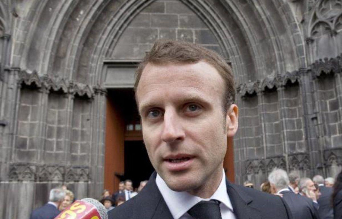 Le ministre de l'Economie, Emmanuel Macron, le 5 mai 2015 à Clermont-Ferrand –  AFP
