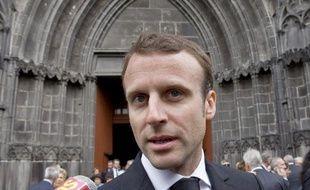 Le ministre de l'Economie, Emmanuel Macron, le 5 mai 2015 à Clermont-Ferrand